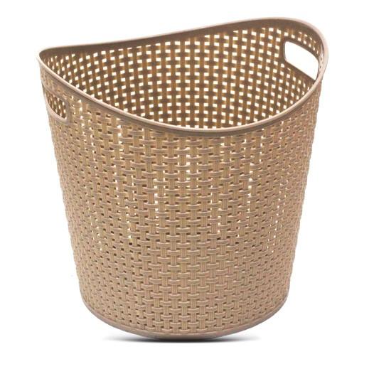 سلة غسيل بلاستيك متوسطة – بني
