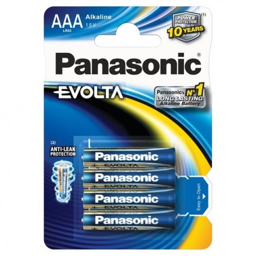 """باناسونيك – بطارية """"إيفولتا"""" بقوة 1.5 فولت قياس AAA (عبوة 4 حبة)"""