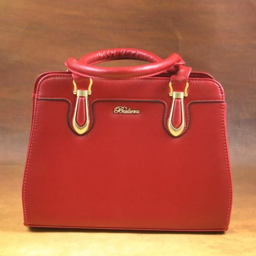 بالينا - حقيبة يد PU جلدية للسيدات - مارون