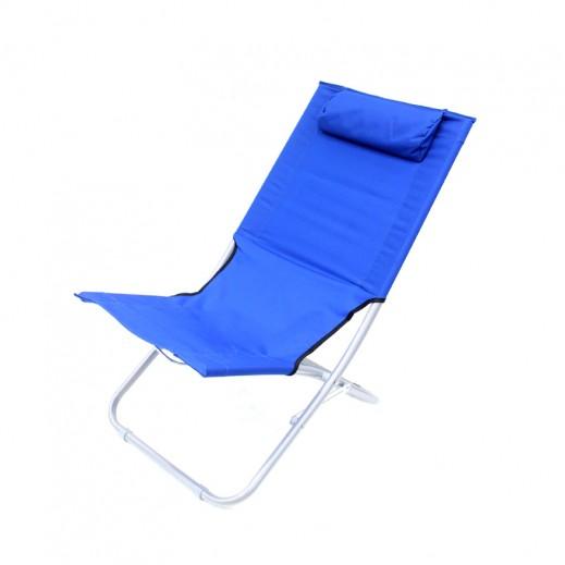 كرسي قابل للطي مائل قليلاً للخلف - أزرق
