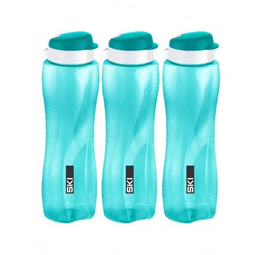 سكاي - طقم زجاجة مياه تويستر 1 لتر (3 حبة) (ألوان متعددة)