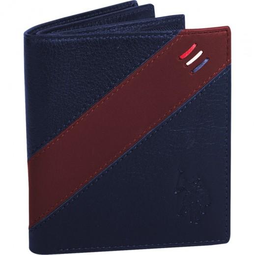 بولو – محفظة جلدية للرجال موديل PLCUZ5745 – بني / أزرق