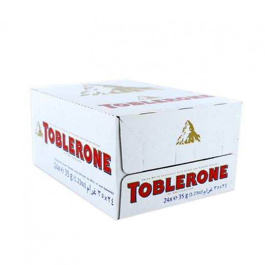 توبليرون - شوكولاتة بيضاء - كرتون 24 حبة × 35 جم
