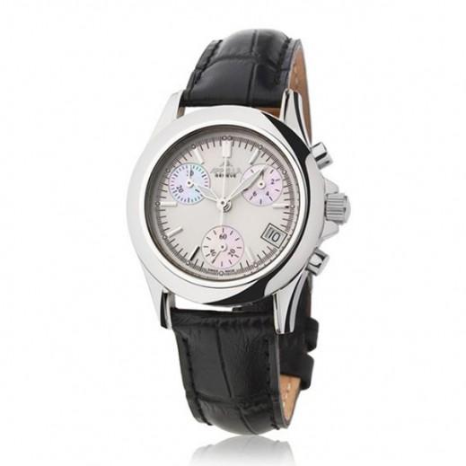 أبيلا – ساعة يد سويسرية  للسيدات  بهيكل فضى و حزام من الجلد موديل(AP-4032.03.0.1.01)