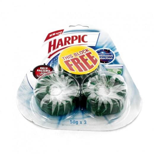 """هاربيك – منظف المرحاض """" تنظيف مستمر """" 50 جم × 3 حبة"""