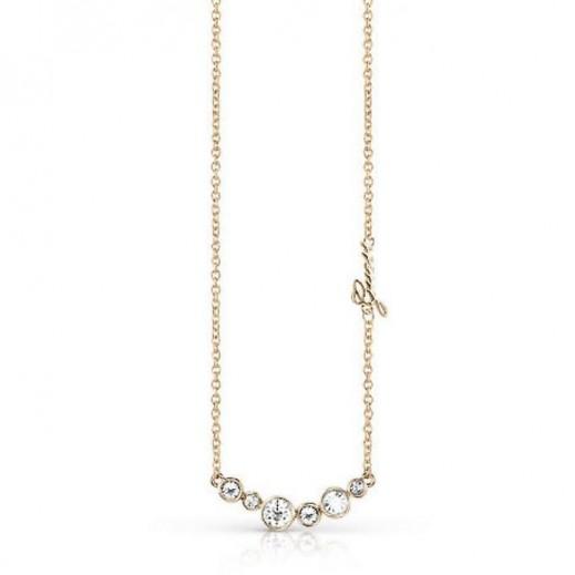 Guess Crystal Golden Necklace - يتم التوصيل بواسطة Beidoun