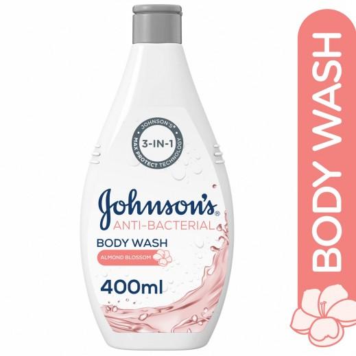 جونسون - سائل إستحمام مضاد للبكتريا بزهور اللوز 400 مل