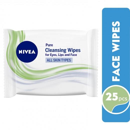 نيفيا - مناديل تنظيف الوجه خالية من العطر 25 حبة