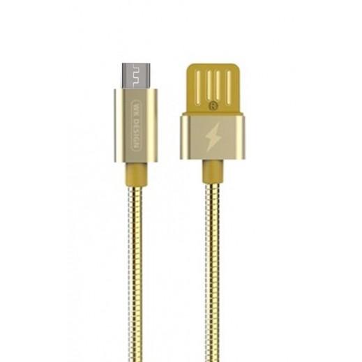 دبليو كي ديزاين – كيبل Micro USB بطول 1 متر – ذهبي