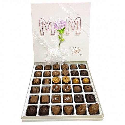شوكولاتة رور- علبة شوكولاتة  هدية عيد الأم 500 جم - يتم التوصيل بواسطة Chocolates Rohr Geneve