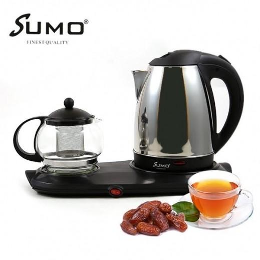 سومو – غلاية ماء ومحضرة شاي وصينية تقديم 3 × 1 بقوة 1800 واط