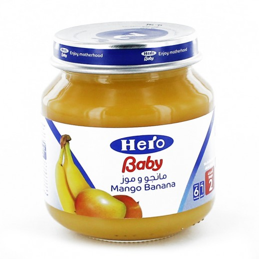 هيرو – طعام الأطفال بالمانجو والموز 125 جم × 12 حبة - أسعار الجملة