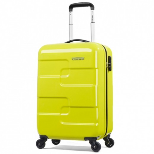 "أميريكان توريستر – حقيبة سفر "" Puzzle Cube "" بعجلات 58 سم – أصفر"