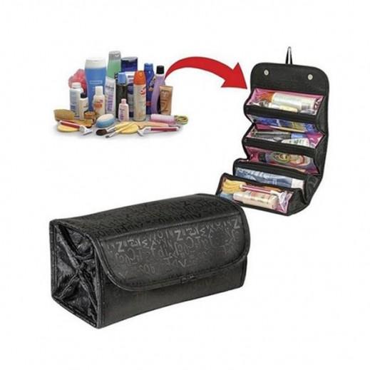 حقيبة قابلة للطي  لمستحضرات التجميل - أسود