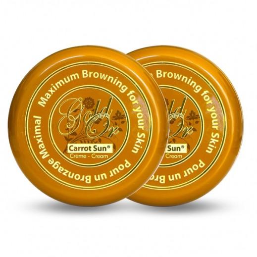 كاروت صان - عبوتين كريم مُسمرالبشرة الذهبي 350 مل