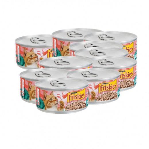 فرسكس – طعام القطط من قطع الدجاج والسلمون مع المرق 156 جم (8 حبة)