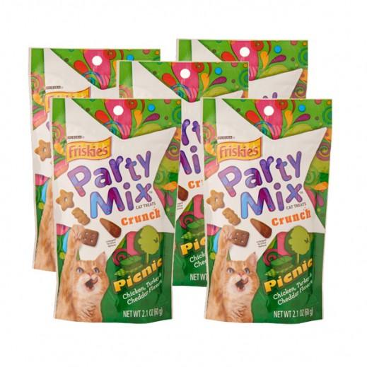 فرسكس – طعام القطط بارتي ميكس بكنيك 60 جم (5 حبة)