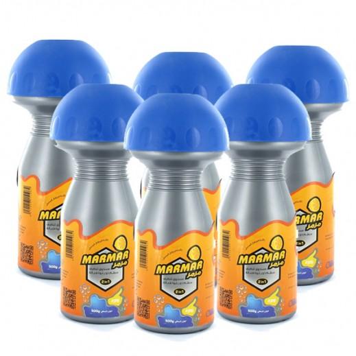 """(الصانع – """"مرمر"""" منظف الحمامات والمطبخ برائحة البرتقال 500 جم (6 حبة"""