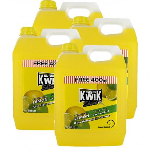كويك - مطهر برائحة الليمون 4.4 لتر (4 حبة) - أسعار الجملة
