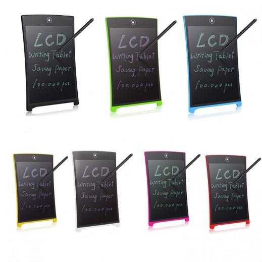 لوح LCD للكتابة 8.5 بوصة مع قلم وزر مدمج للمسح الشامل -