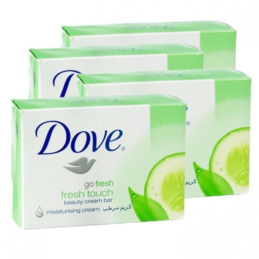 دوف – صابون الإستحمام بخلاصة الخيار والشاي الأخضر 135 جم (4 حبة)