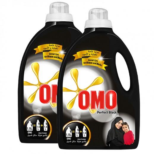 """أومو - سائل الغسيل """"""""Auto Fabric للغسالات الأوتوماتيك للملابس السوداء 1.5 لتر (2 حبة) – أسعار الجملة"""