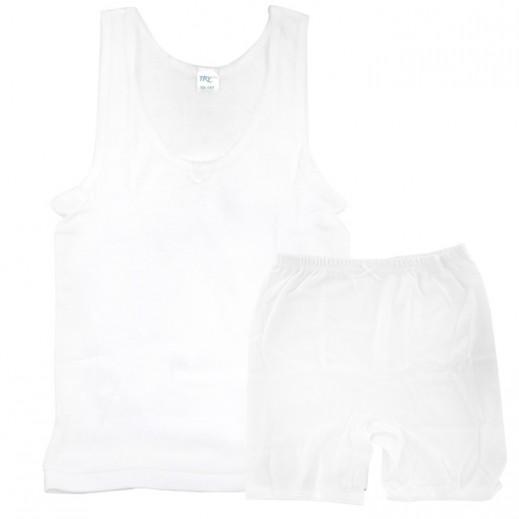 تراي  - طقم ملابس داخلية للبنات – فيست & سروال نصف (لعمر 1 - 2 سنوات) إلى (5 - 6 سنوات)