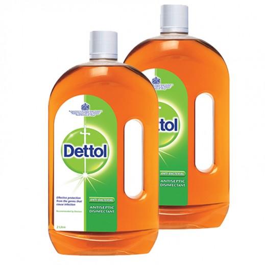 ديتول – مطهر سائل مضاد للبكتريا لجميع الأغراض 2 لتر (2 حبة) - أسعار الجملة