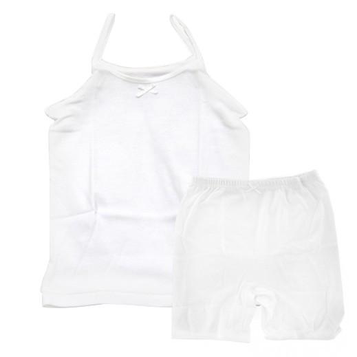 تراي  - طقم ملابس داخلية للبنات – سترة قصيرة & سروال نصف (لعمر 1 - 2 سنوات) إلى (5 - 6 سنوات)