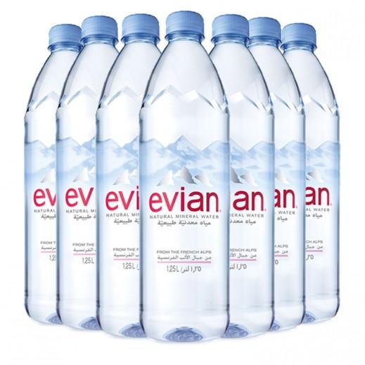 إيفيان – مياه معدنية طبيعية 1.250 لتر 4 × 6
