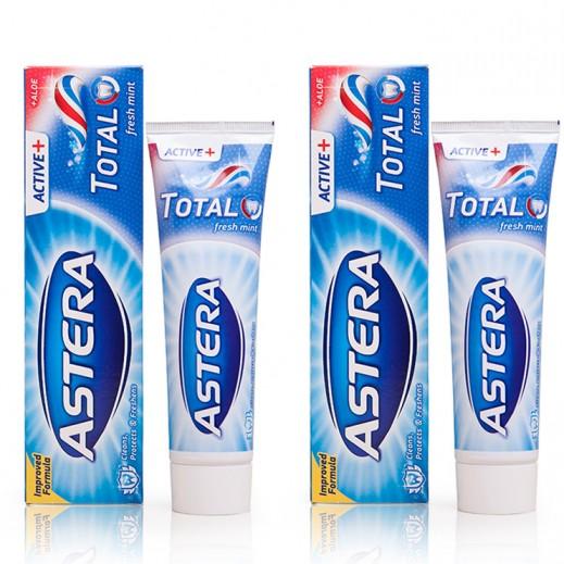 أستيرا – معجون الأسنان أكتيف+ توتال 100 مل (2 حبة)