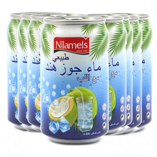 نيلاميلز - ماء جوز هند طبيعي مع اللب 330 مل (3 × 24) - أسعار الجملة