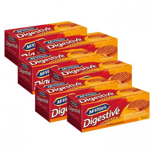 ماكفيتيز – بسكويت دايجستف الكراميل بالشوكولا والحليب 300 جم ( 6 حبة ) - عرض التوفير