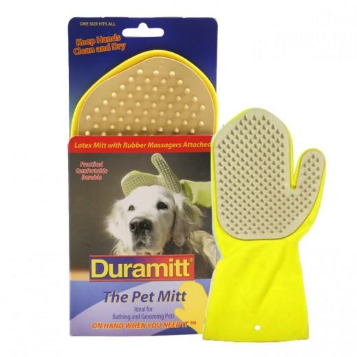 دورميت  – قفاز الحيوانات الأليفة مع اسنان مطاطية للتدليك