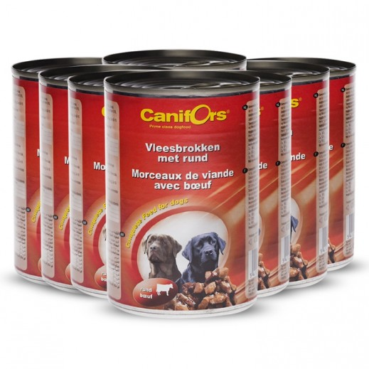 كانفورس – طعام الكلاب مع قطع اللحم البقري 24×410 جم - أسعار الجملة