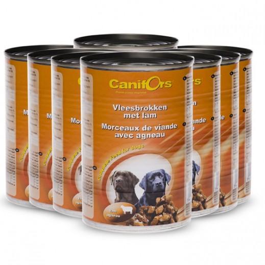 كانفورس – طعام الكلاب مع قطع لحم الغنم 8×410 جم