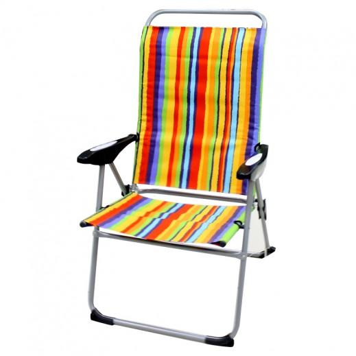 كرسي إتكاء قابل للطي - ألوان مخططة متعددة