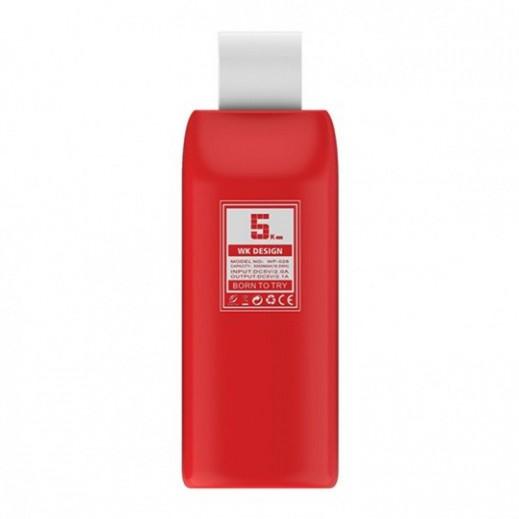 دبليو كي ديزاين – بطارية احتياطية 5,000 ملي امبير – احمر
