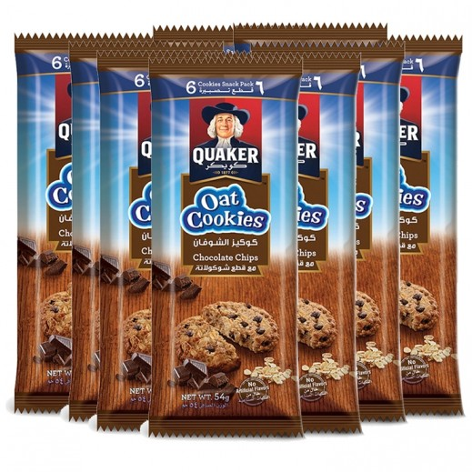 كويكر – كوكيز الشوفان بالشوكولاتة 9 × 54 جم