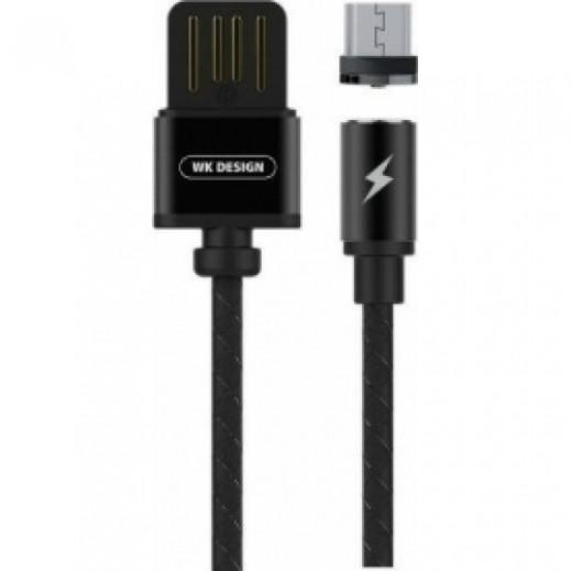 دبليو كي ديزاين – كيبل Micro USB مغناطيسي 100 سم – اسود