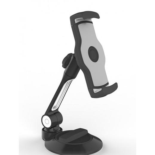 ليدي تيك – حامل الهواتف الذكية والتابلت 360° للمكتب والسيارة – أسود