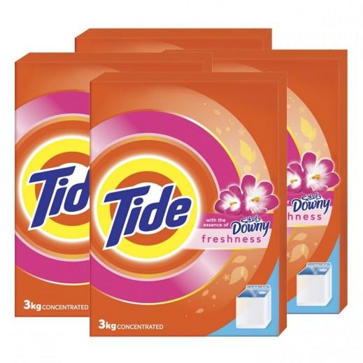 تايد - مسحوق الغسيل مع عبير داوني للغسالات العادية 3 كجم ( 4 حبة ) - أسعار الجملة