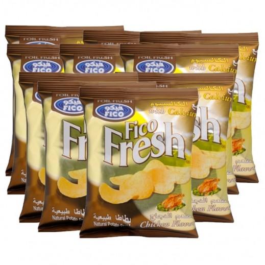 فيكو فريش - رقائق بطاطا بطعم الدجاج مع الكالسيوم 27 جم (10 حبة)
