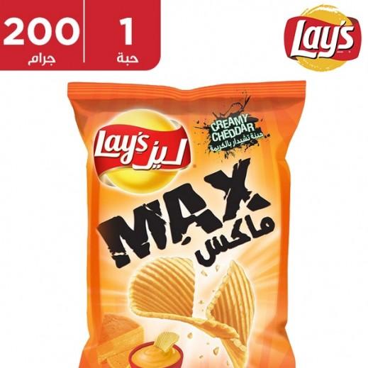 ليز – بطاطا شيبس ماكس بكريمة جبنة شيدر 200 جم