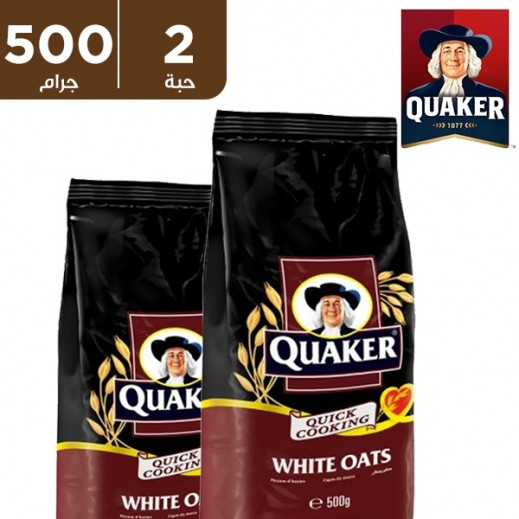 كويكر – شوفان أبيض 2×500 جم