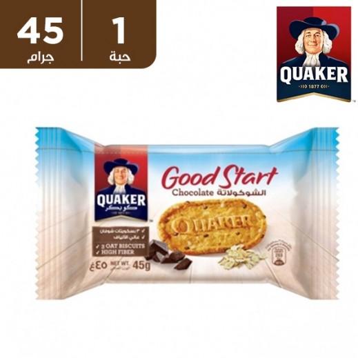 كويكر – بسكويت جود ستارت بالشوكولاتة 45 جم