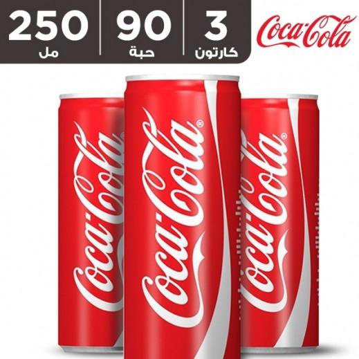 كوكا كولا – مشروب غازي 250 مل (3 × 30 حبة)