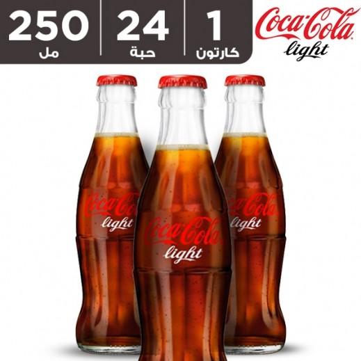 كوكا كولا لايت – مشروب غازي 250 مل ( 24 حبة )