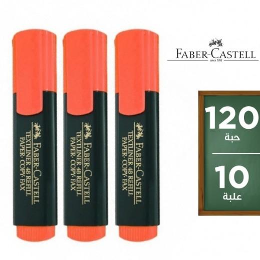 فابر كاستل – قلم إظهار برتقالي (12 علبة × 10 أقلام) – منتجات الجملة