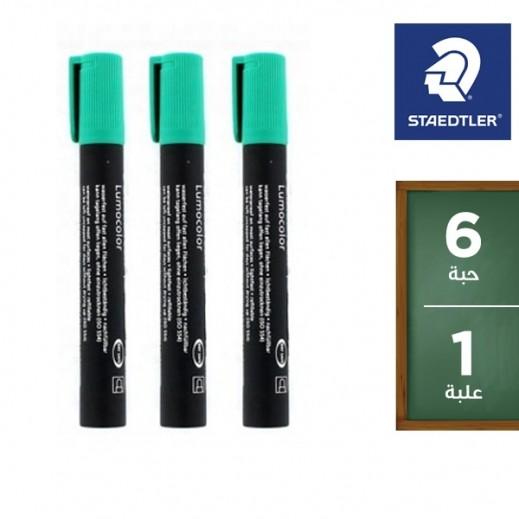 ستدلر – أقلام تعليم بحبر ثابت (352– 5) – أخضر (6 أقلام) – عرض التوفير